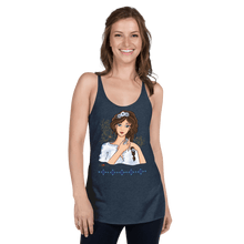 Load image into Gallery viewer, Tank Top Ileana Cosanzeana - The Charming Princess | Women's Racerback Tank Top B ♘ ℞ ScarletterDesign Vintage Navy / XS