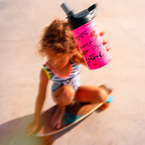 12 Oz. Lil SIC Girl Power Pink Bottle - Outletfy