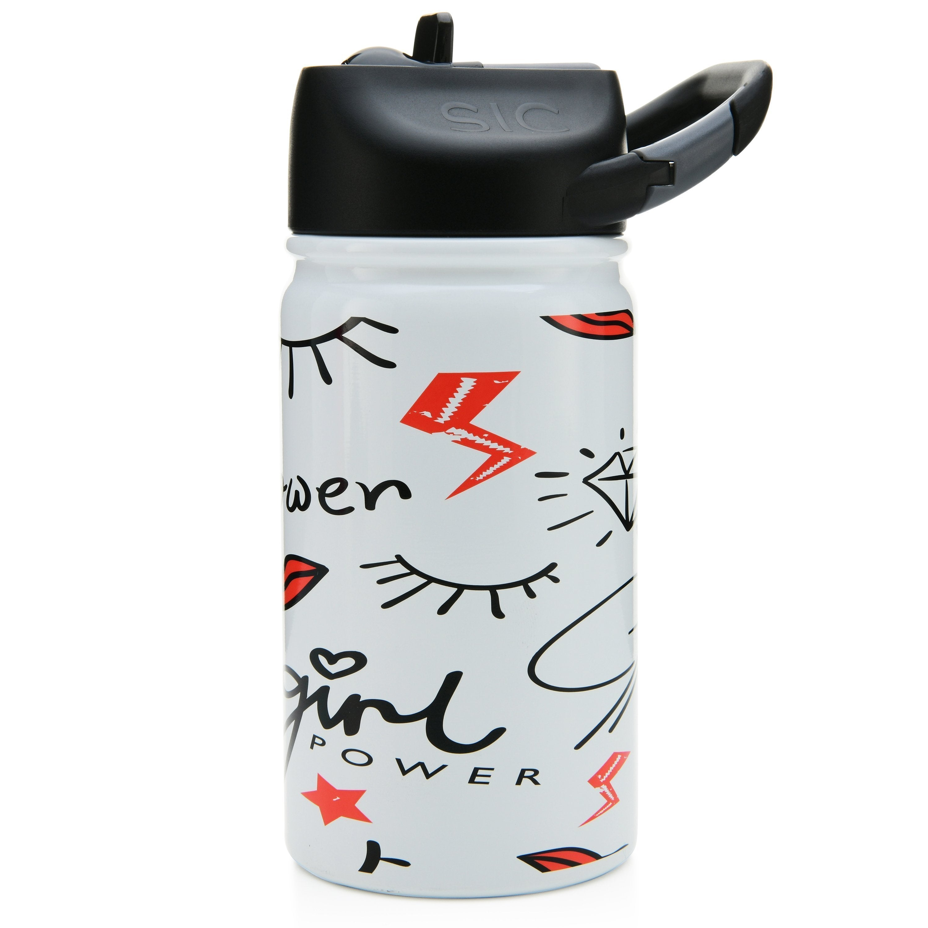 12 Oz. Lil SIC Girl Power White Bottle - Outletfy