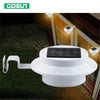 3 leds light sensor control Solar Powered Fence Gutter Solar Lights, Outdoor Security Solar Lamps