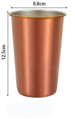 500ml 304 Stainless Steel Coffee Mugs Metal Straw Reusable Tumbler Pint Outdoor Camping Travel Mug Drinking Juice Tea Beer Cups rosegold mug