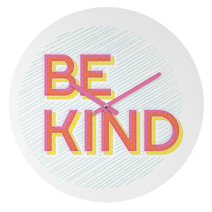 BE KIND WALL CLOCK - Outletfy
