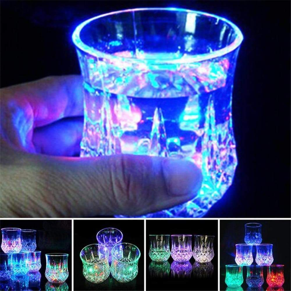 Creative Light Up LED Cups Automatic Flashing Drinking Cup Mugs Color Changing Beer Whisky Glass Cup For Bar Club Party Supplies
