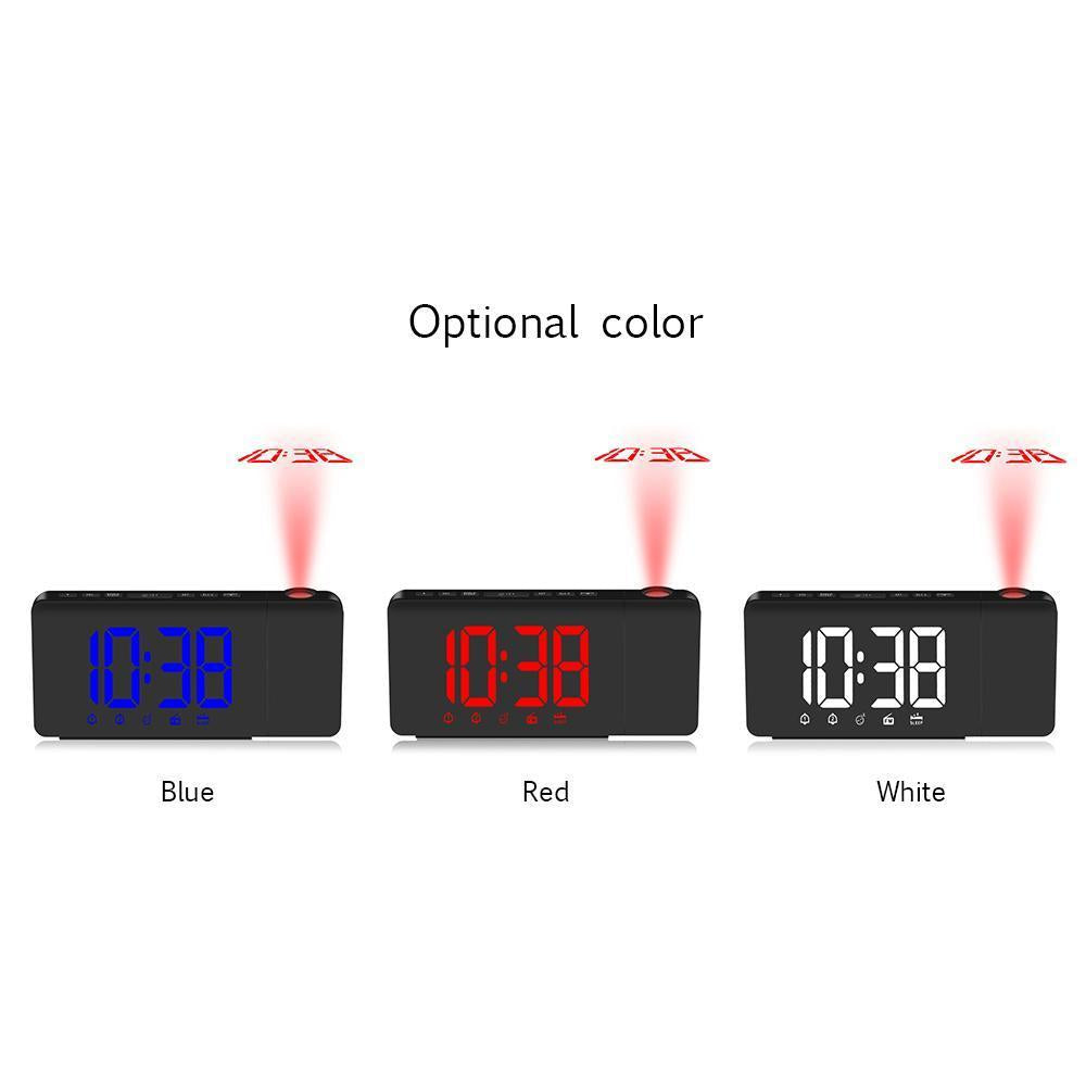 Digital Clock LED Projection Alarm Clock Dimmable - Outletfy