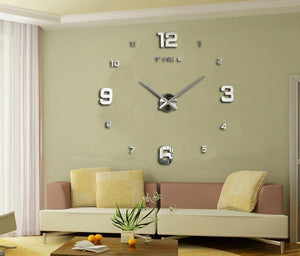 Fashion Large DIY Modern Wall Clock Home Decor 3D - Outletfy