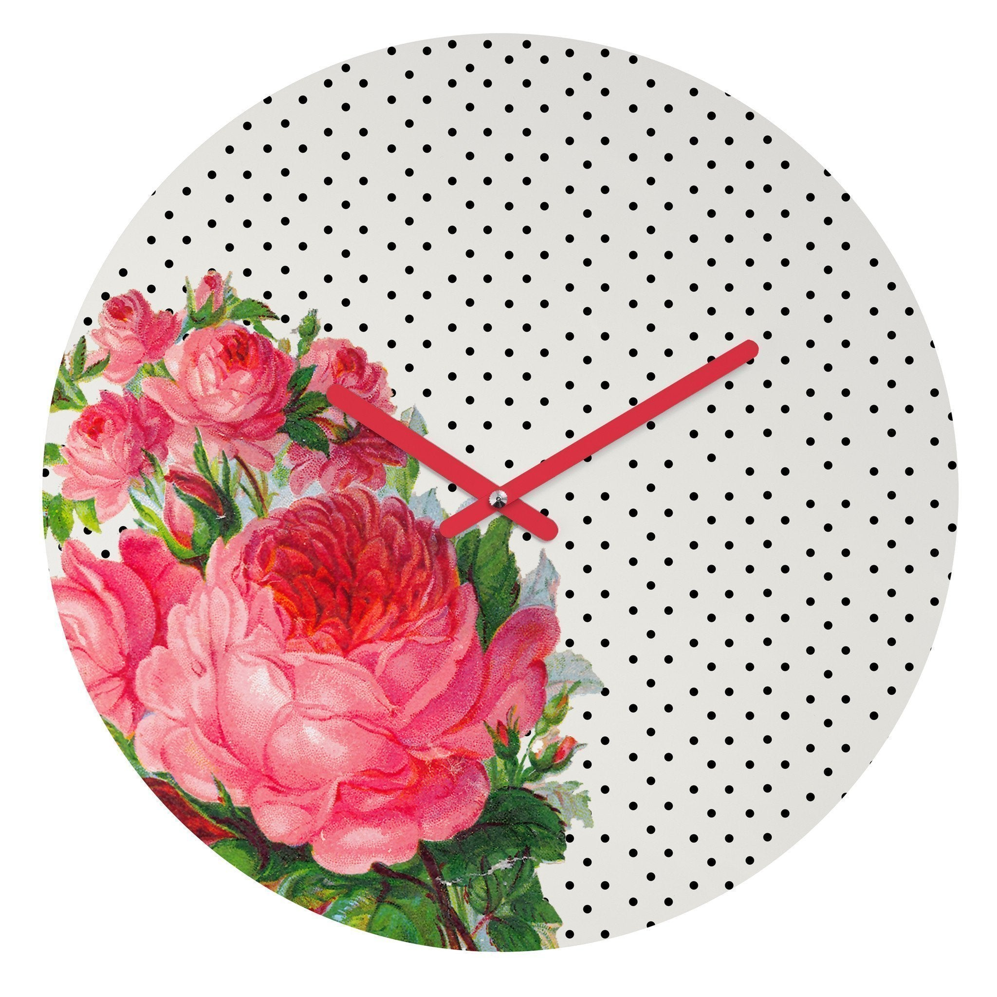 FLORAL DOTS WALL CLOCK - Outletfy