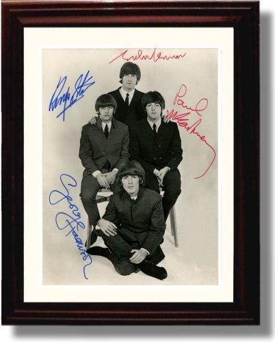 Framed Beatles Autograph Promo Print - Outletfy