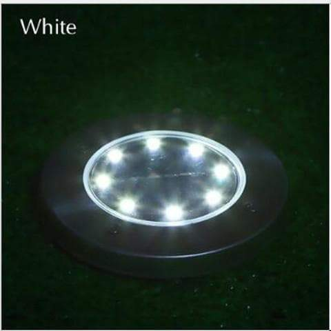 Hot Sale Underground Light 8 LED Solar Power Buried Light Under Ground Lamp Outdoor Path Way Garden Lawn Yard Outdoor Lighting White