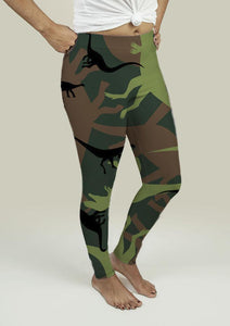 Leggings with Dinosaur Camouflage - Outletfy
