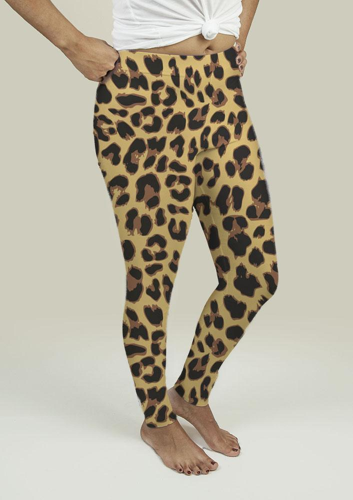 Leggings with Leopard Print - Outletfy