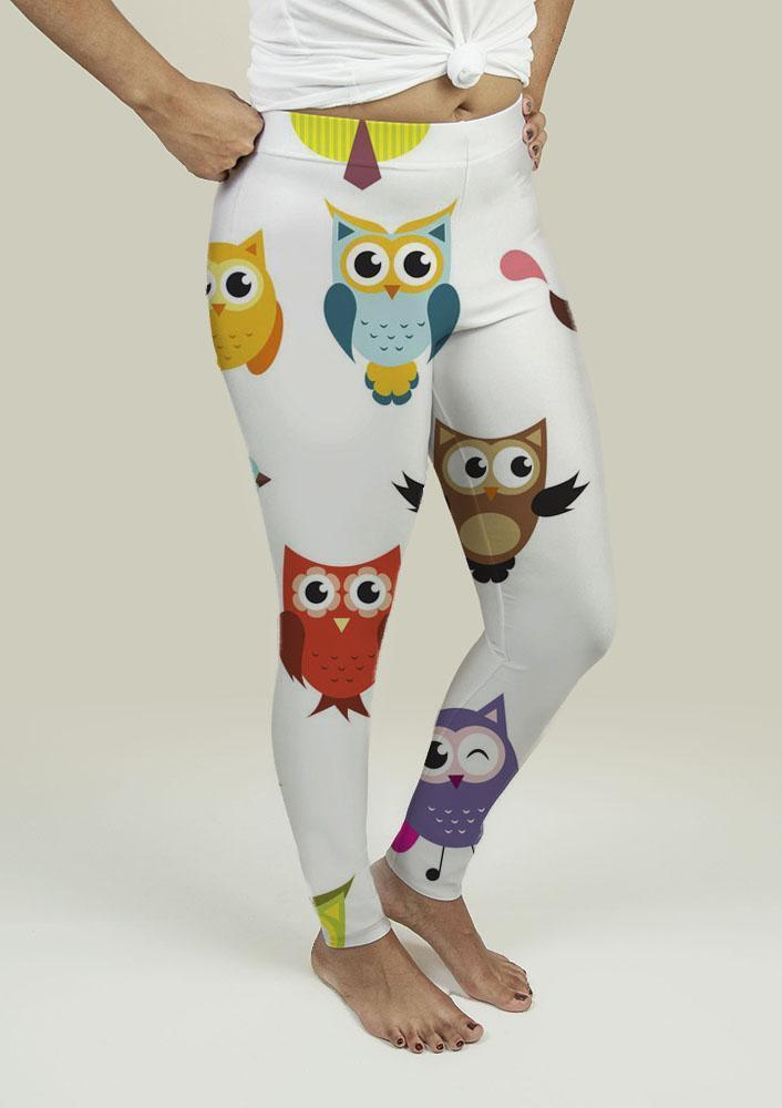 Leggings with Owls - Outletfy