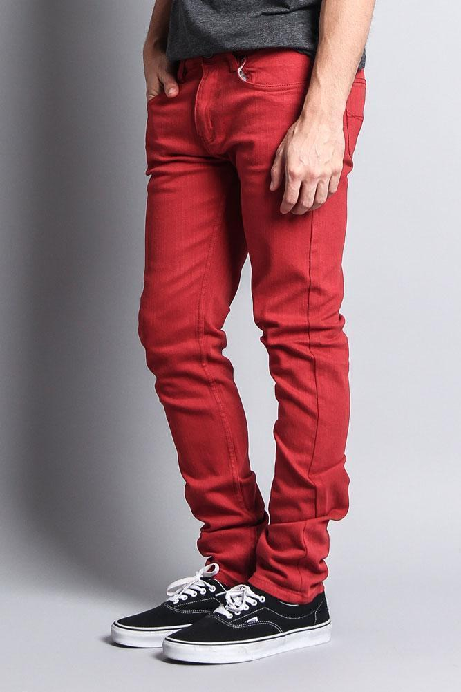 Men's Skinny Fit Colored Jeans (Picante) - Outletfy