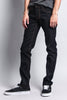 Men's Skinny Fit Raw Denim Jeans (Black/Timber) - Outletfy