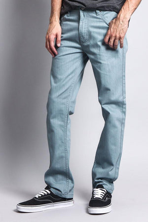 Men's Slim Fit Colored Denim Jeans (Bluestone) - Outletfy