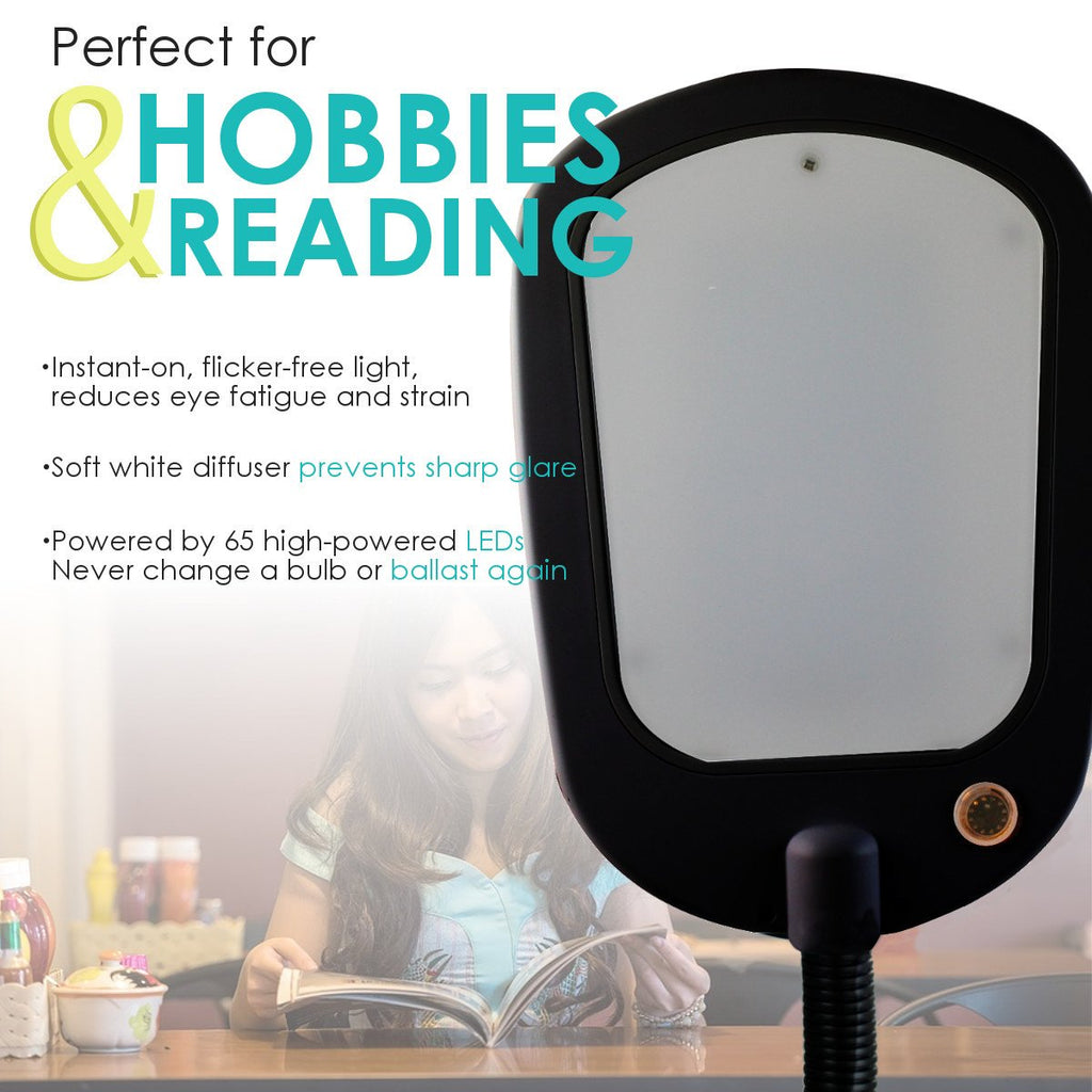 """NEW SLIMMER DESIGN"" LED Bright Reader Natural Daylight Full Spectrum"