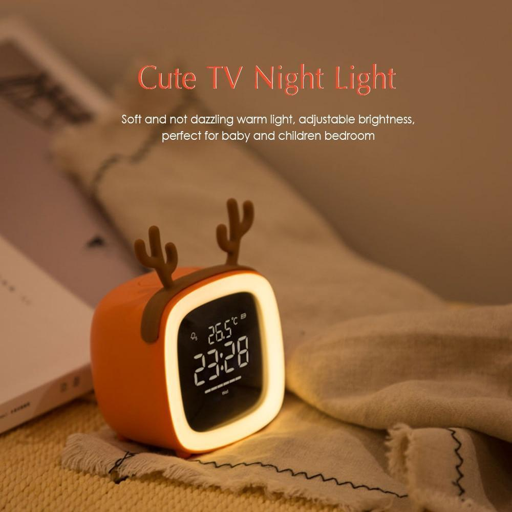 Night Light Alarm Clock Table Clock with Snooze - Outletfy