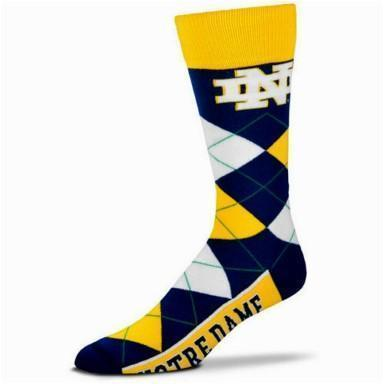 Notre Dame Fighting Irish Argyle Crew Socks - Outletfy