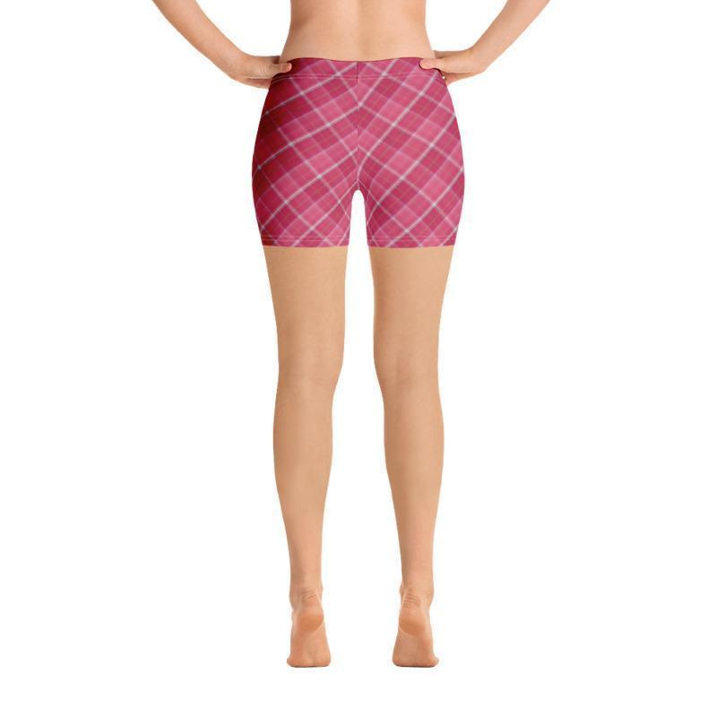 Pink Plaid Leggings, Capris, Shorts - Outletfy