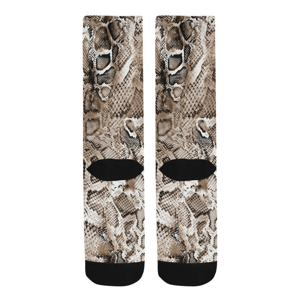 Snake Skin Printed Socks - Outletfy