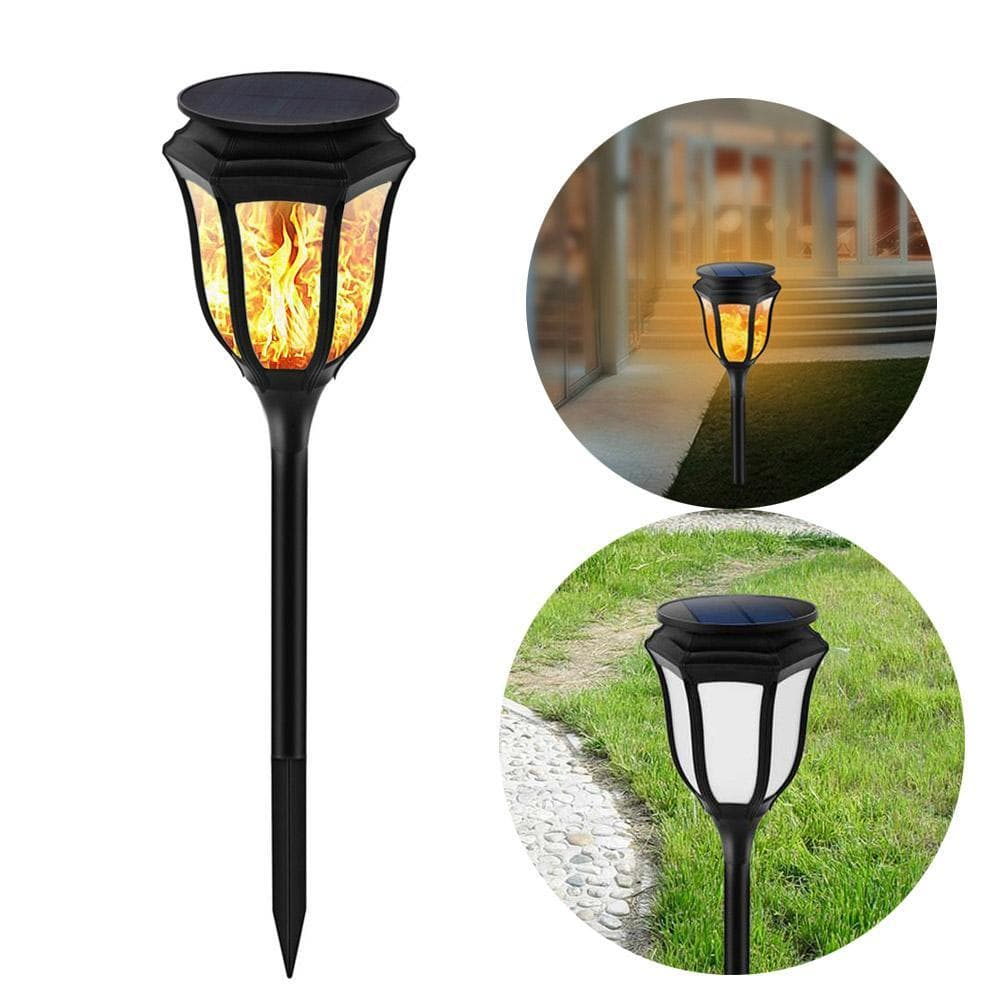 Solar Path Torch Light Waterproof Christmas Decorative Flame Lighting Lamp Garden Pathway Yard 96 Leds Flickering
