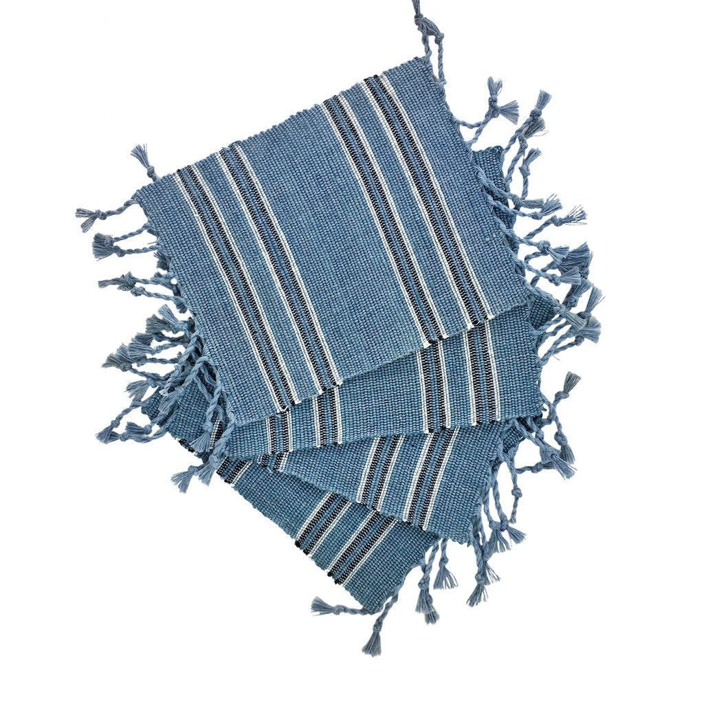 Striped Fringe Coasters - Outletfy