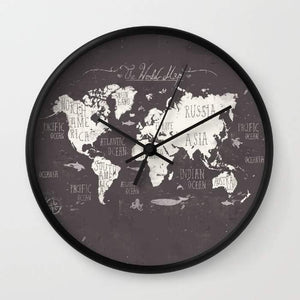 The World Map Wall clock - Outletfy