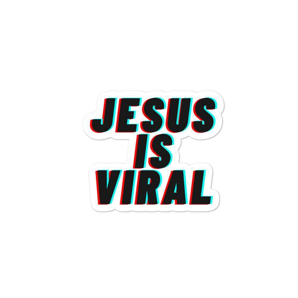 TikTok Jesus Is Viral Bubble-free stickers 3x3