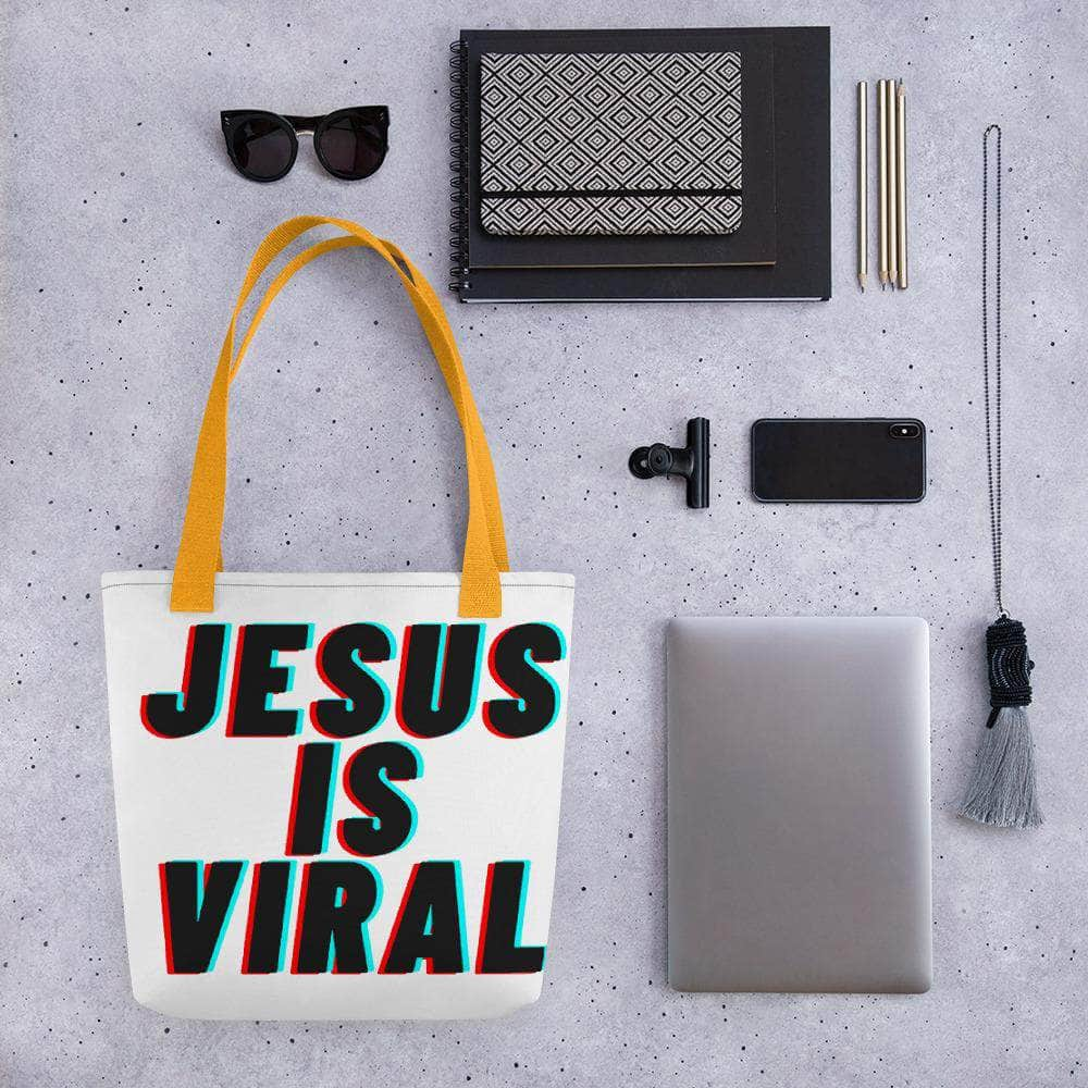 TikTok Jesus Is Viral Tote bag Yellow
