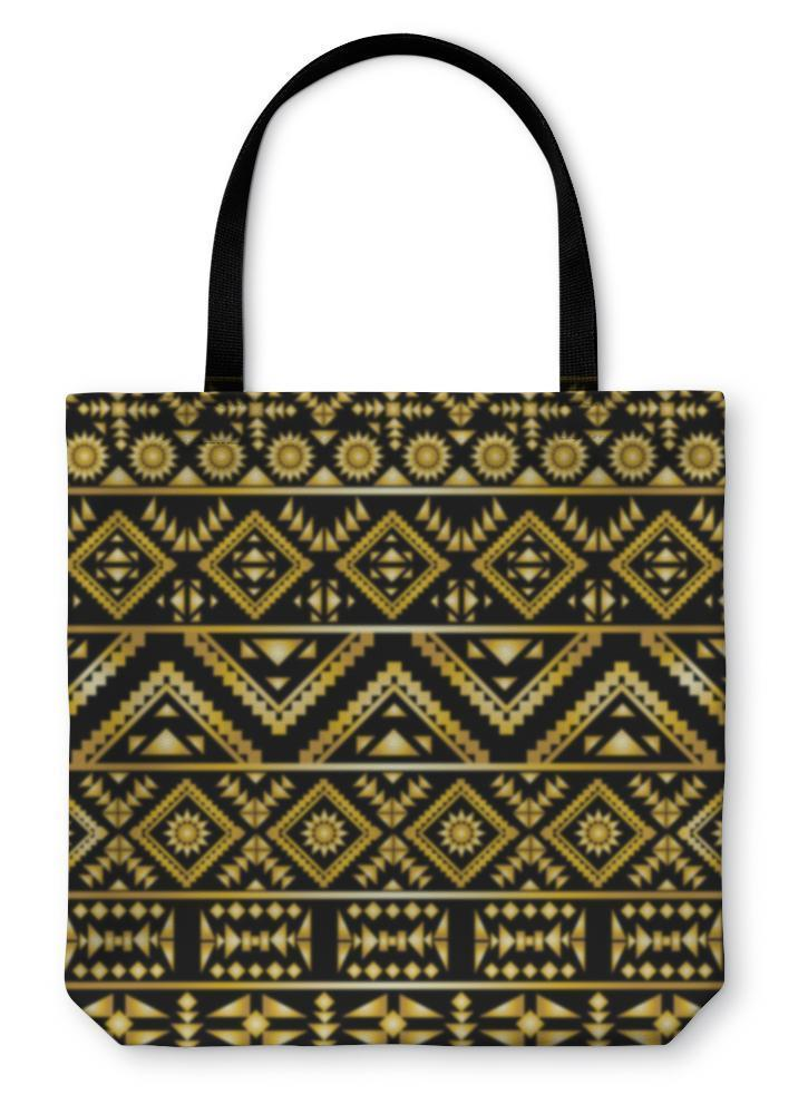 Tote Bag, Aztec Pattern Art Deco Style - Outletfy