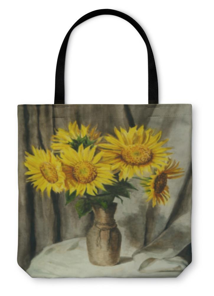 Tote Bag, Sunflowers - Outletfy