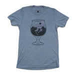 Tulip Glass Tee-Denim Triblend