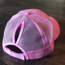 Load image into Gallery viewer, Light Pink Mesh Back Ponytail Cap