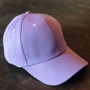 Kids Purple Ponytail Cap