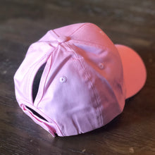 Load image into Gallery viewer, Kids Pink Ponytail Cap