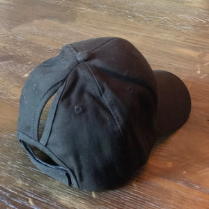 Kids Black Ponytail Cap