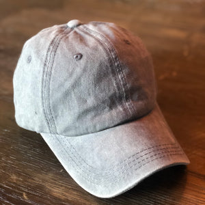 Light Grey Distressed Ponytail Cap