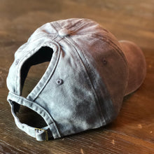 Load image into Gallery viewer, Light Grey Distressed Ponytail Cap