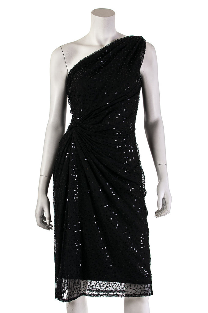 Tadashi Shoji sequin one shoulder dress Size M - OWN THE COUTURE