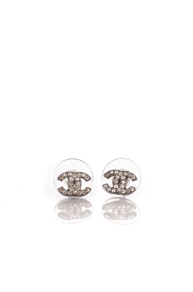 Chanel CC crystal embellished earrings - OWN THE COUTURE
