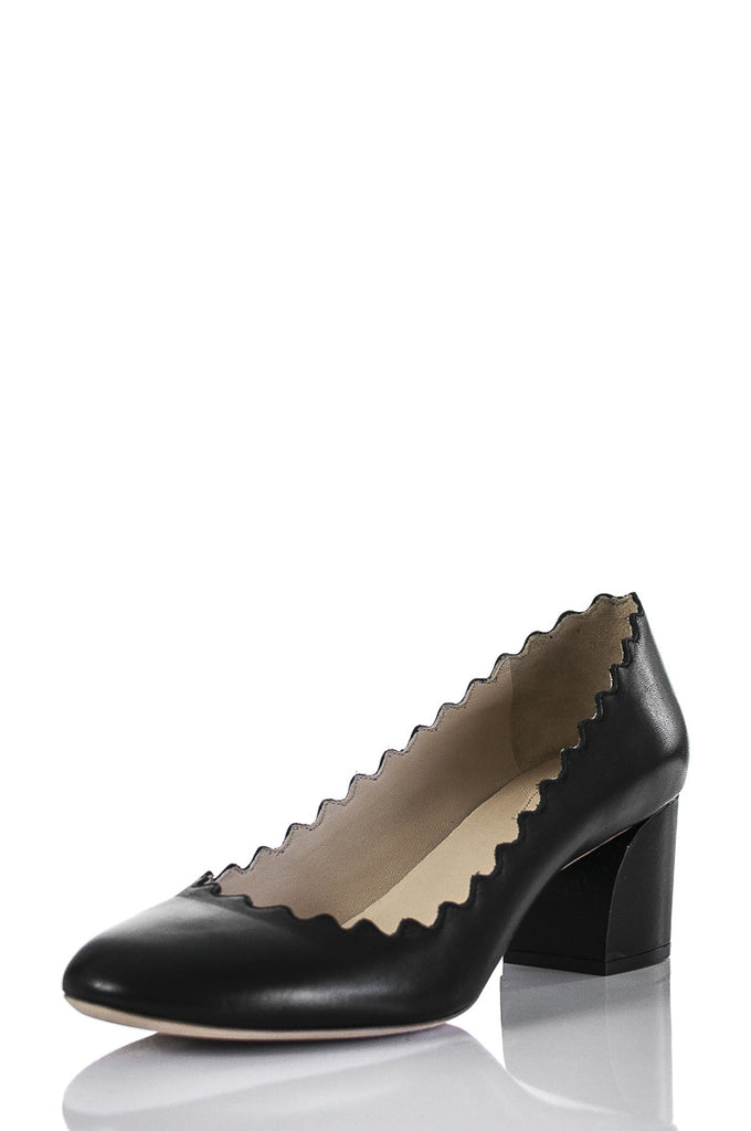 Chloé Lauren scalloped leather pumps Size 6  [20% OFF] - OWN THE COUTURE