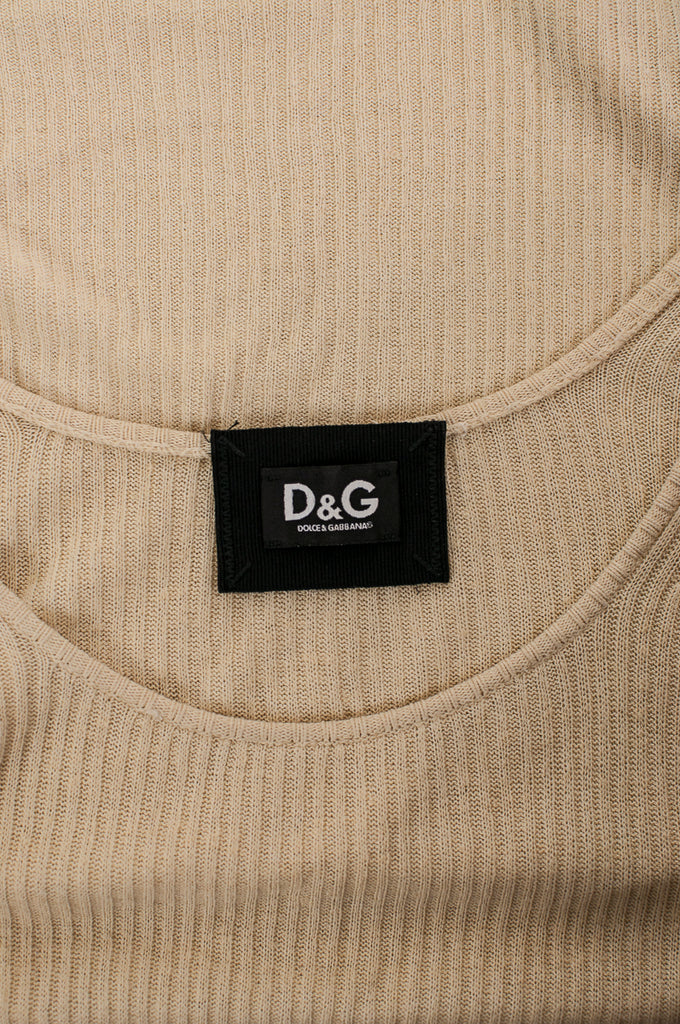 D&G ribbed tank top Size S - OWN THE COUTURE