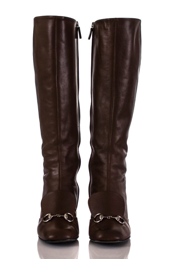 Gucci Lillian horsebit knee high boots Size 8 - OWN THE COUTURE