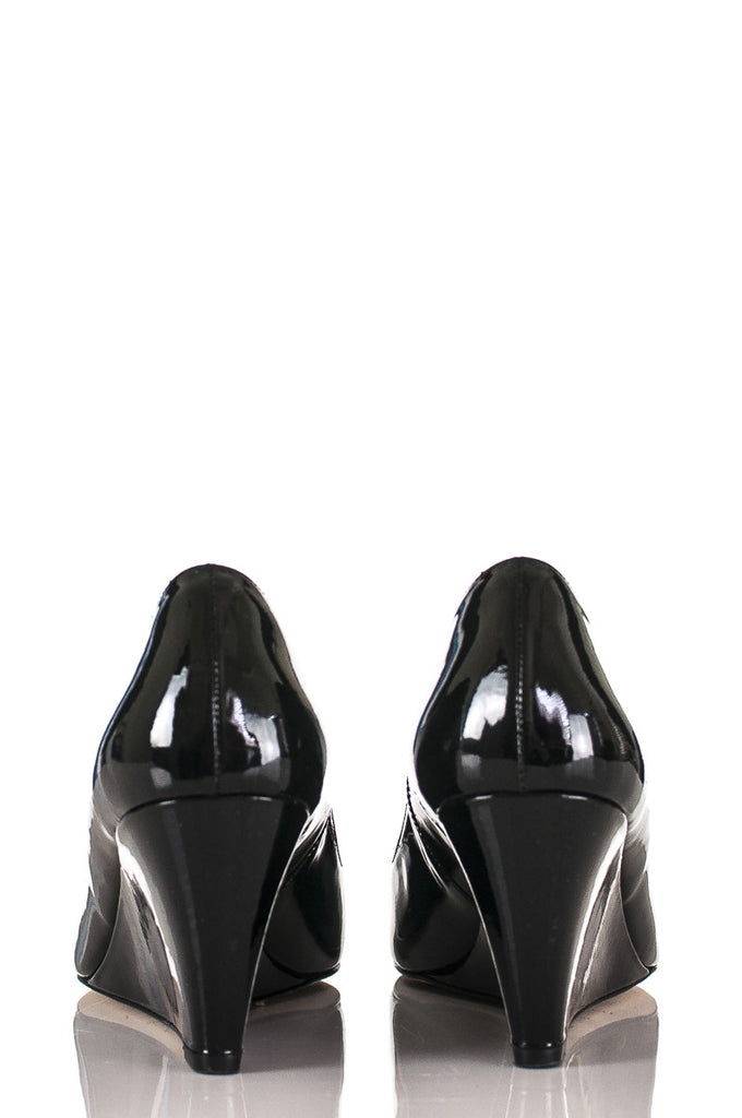 L.K. Bennett patent leather pointed toe Paige wedge pumps Size 9 [40% OFF] - OWN THE COUTURE