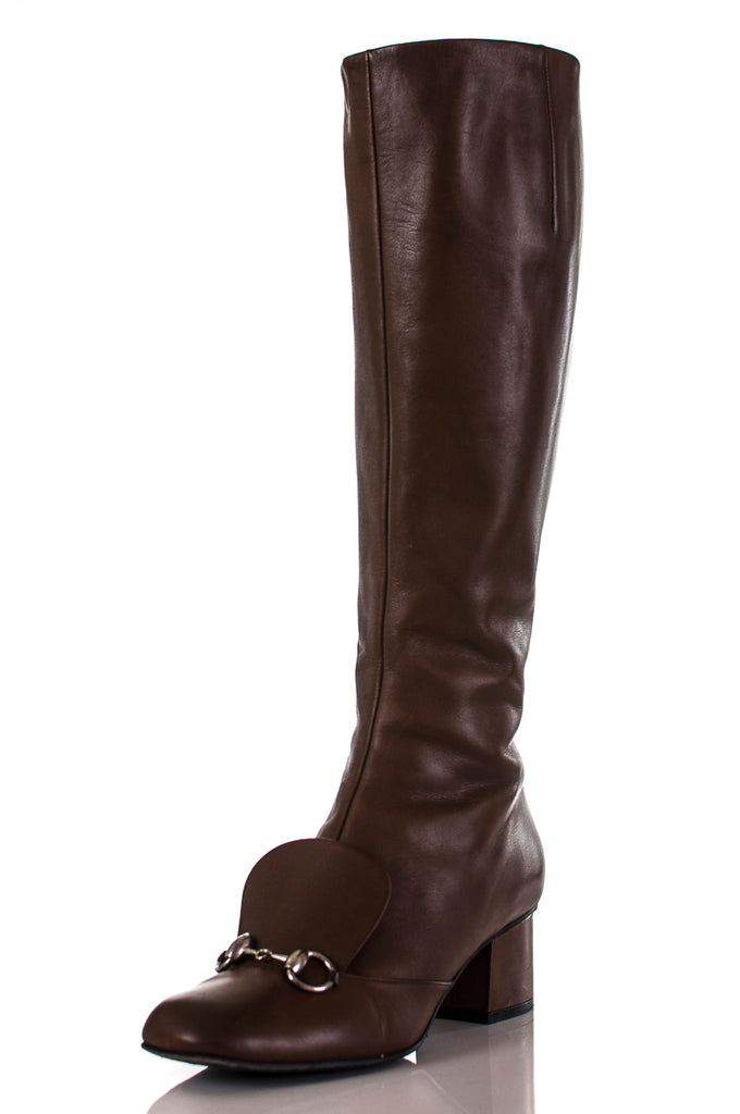 c127231de ... Gucci Lillian horsebit knee high boots Size 8 | EU 38 [20% OFF] ...