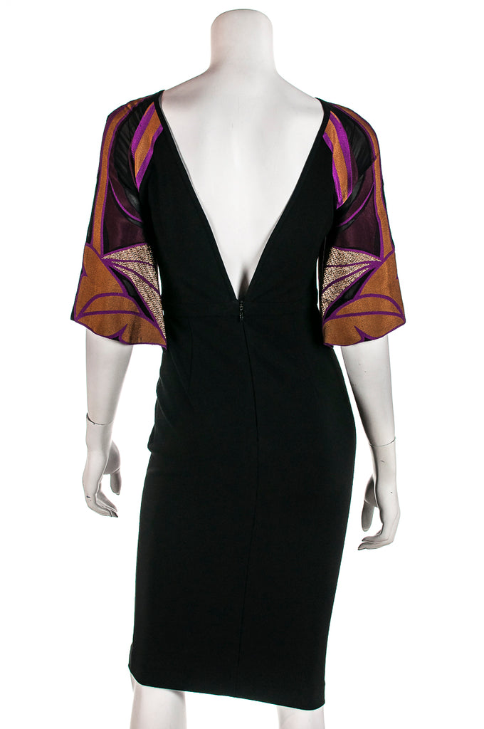 Gucci contrast sleeve Multi lines dress Size XS - OWN THE COUTURE