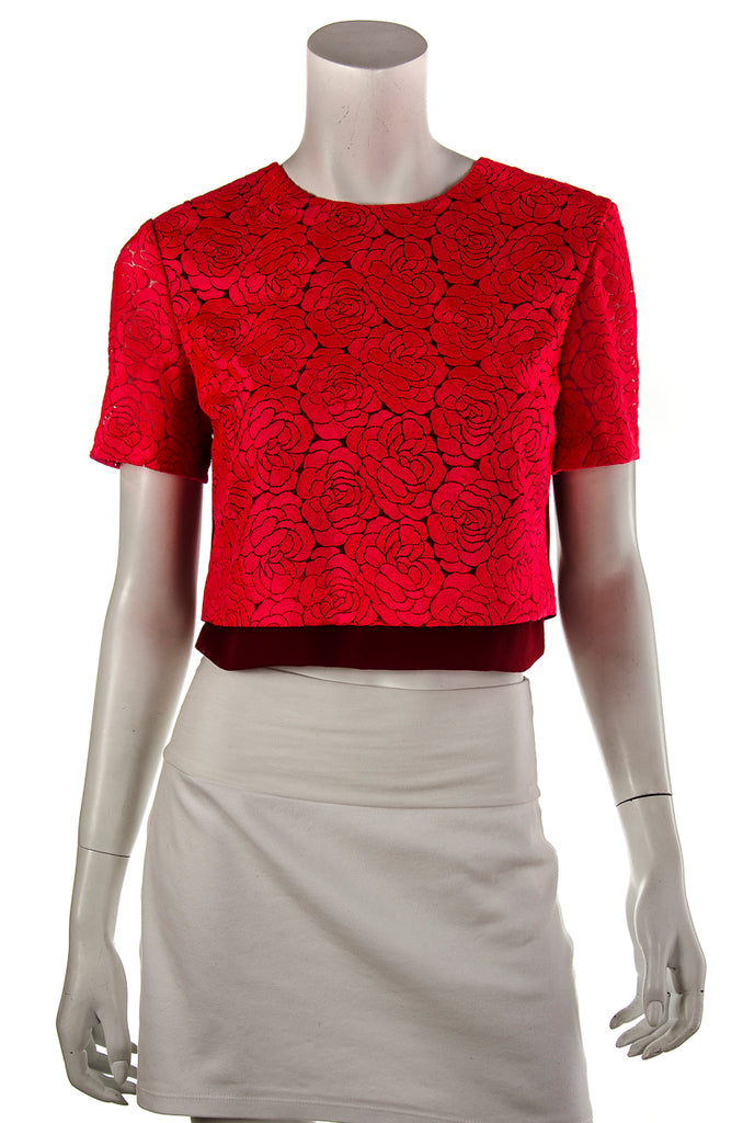 A.L.C. floral lace crop top Size S | US 6 [20% OFF] - OWN THE COUTURE