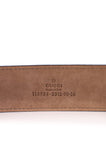 Gucci Guccissima leather monogram belt - S - OWN THE COUTURE