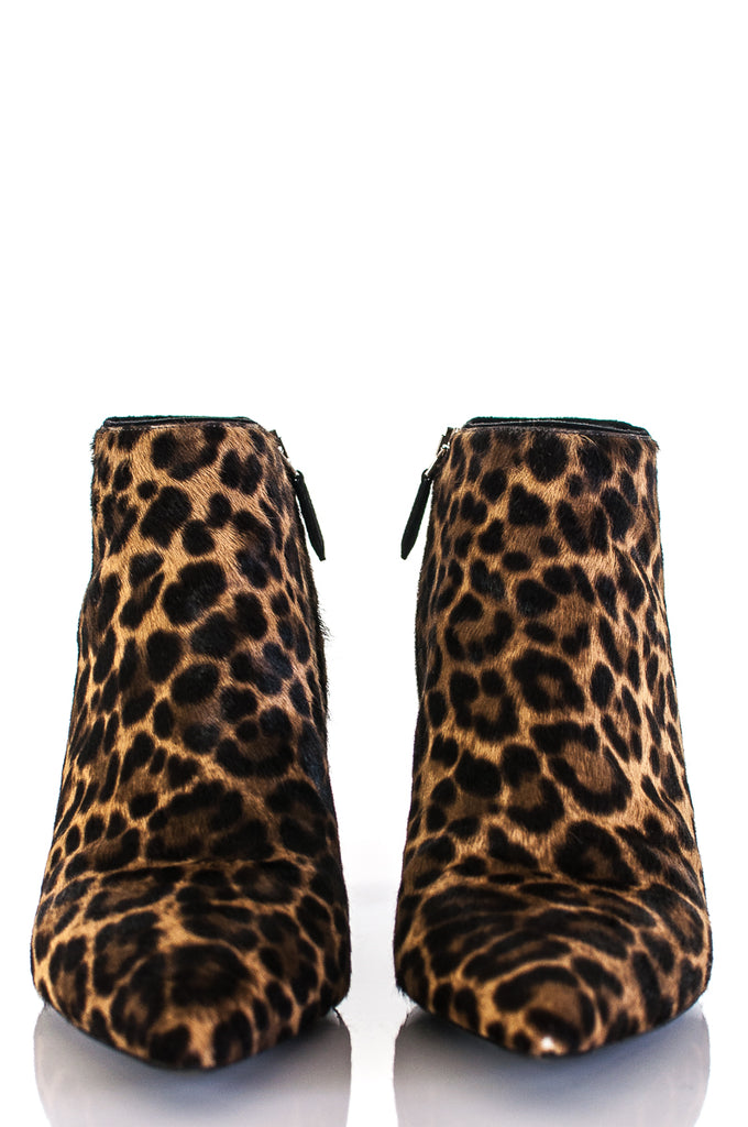 Prada Leopard Print Pony Hair Kitten Heel Ankle Boots Size 9.5 [20% OFF] - OWN THE COUTURE