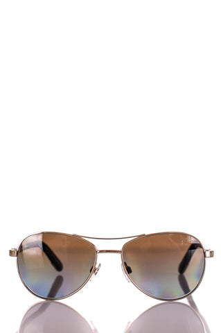 Louis Vuitton Damier Conspiration Pilote Canvas sunglasses