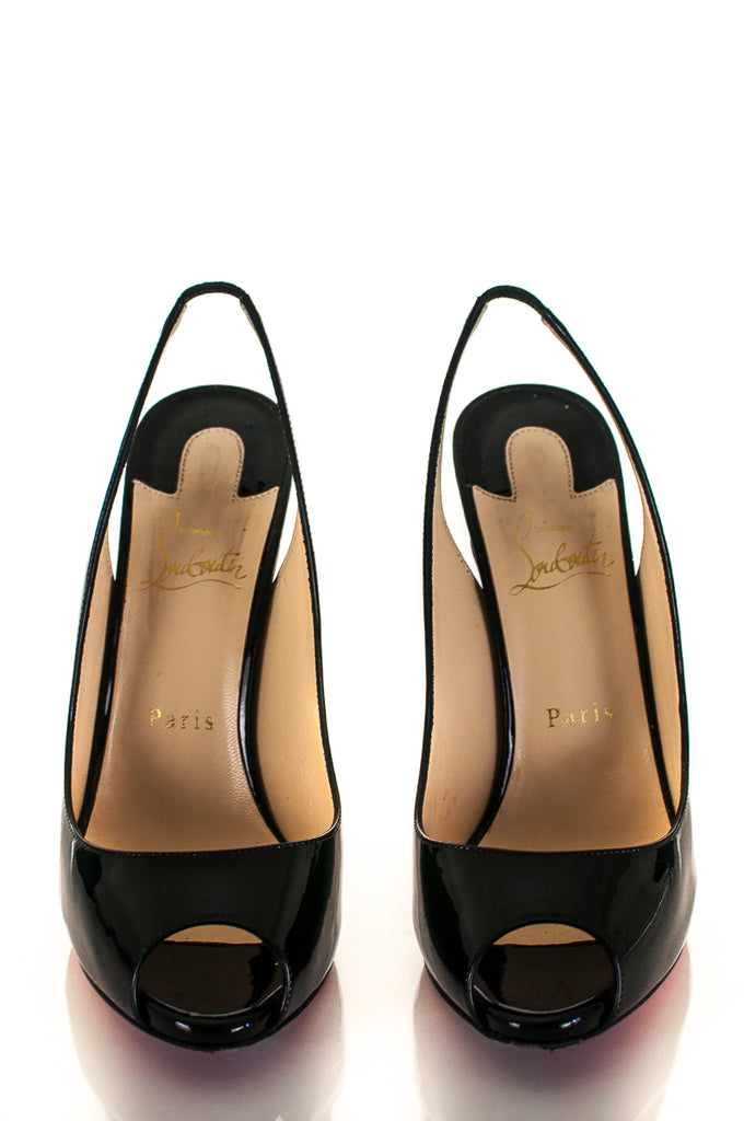 Christian Louboutin patent peep toe sling back pumps Size 8 | EU 38.5 - OWN THE COUTURE